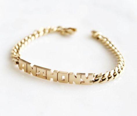 Block Name Bracelet