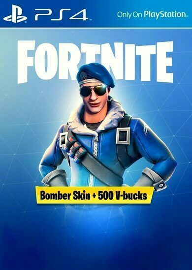 ▭ Exclusive ⭐ Fortnite Bomber Skin + 500 V-Bucks EUROPE (PS4