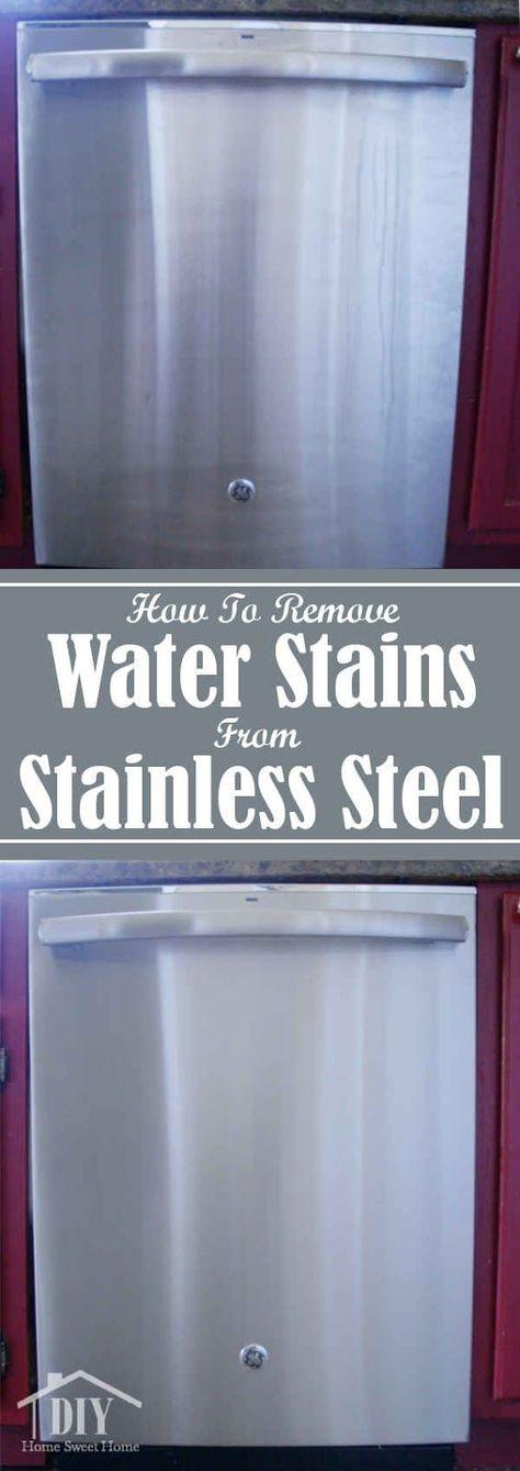 How To Clean Water Stains on Stainless Steel. #diyhsh #StainlessSteel #CleanFreak