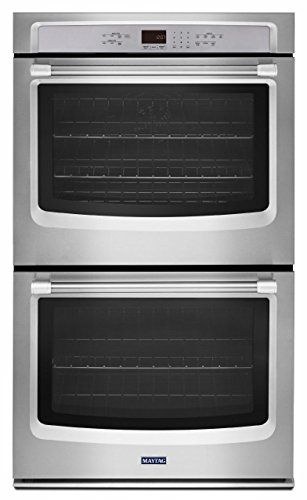 Maytag 27 Inch Stainless Steel Double Electric Wall Oven With True
