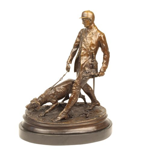 Bronzeskulptur Napoleon im Antik-Stil Bronze Figur Statue 25cm