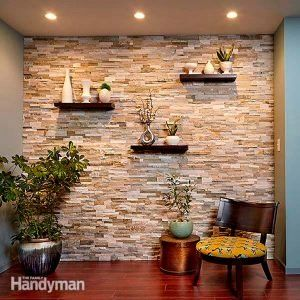 Hang Artwork And Wall Hangings Straight And Level For A Gallery Wall Stone Walls Interior Stone Accent Walls Faux Stone Walls