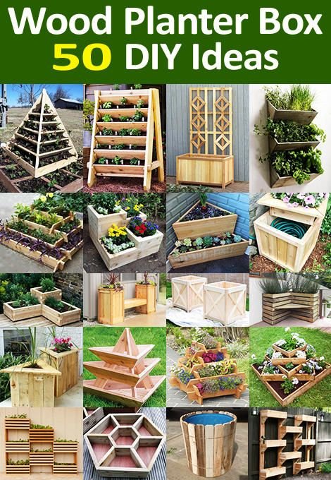 50 Wooden Planter Box Ideas And Diy Designs Of Every Geometric Form In 2020 Planter Boxes Wooden Planter Boxes Diy Wood Planters
