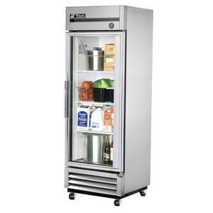 True T 19g Hc Fgd01 19 Cu Ft S S Reach In Refrigerator W 1 Glass Door Glass Door Refrigerator Glass Door Glass Front Refrigerator