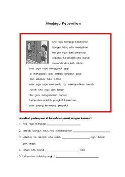 Lembar Kerja Membaca Reading Dalam Bahasa Indonesia Tpt Teaching Reading Understanding