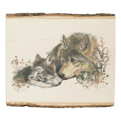 Watercolor Mother Wolf Cubs Animal Art Zazzle Com In 2020 Dog Print Art Watercolor Wolf Animal Art