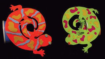salamander craft for reptile and amphibian theme