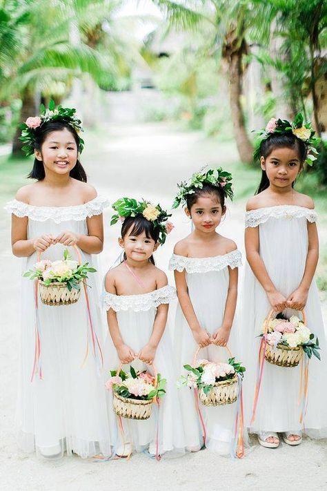Cute little ladies coming through. <3  Photo: Helium Hearts by Marlon Capuyan Flowers: First of April    #wedding #weddingsph #cebuweddings #philippineweddings #bride #bridesph #couple #groom #groomsph #styling #flowers #cebuweddingstylist #flowers #floralbouquet #bouquet #bridalbouquet #FOAFlowers #firstofapril #flowergirls #floralcrowns #floralbasket #flowergirlbasket