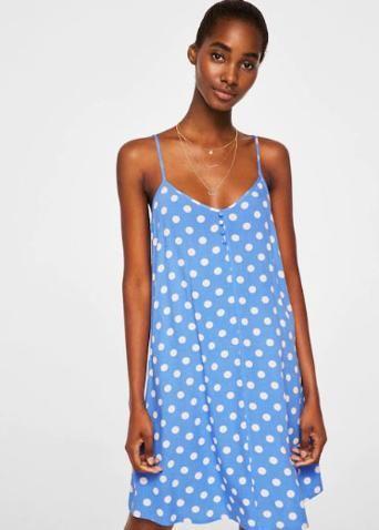 El Vestido De Mango Con El Que Podrás Presumir De Cintura Sin Importar Tu Talla Vestidos Con Manga Corta Vestidos Fluidos Vestido Fluido