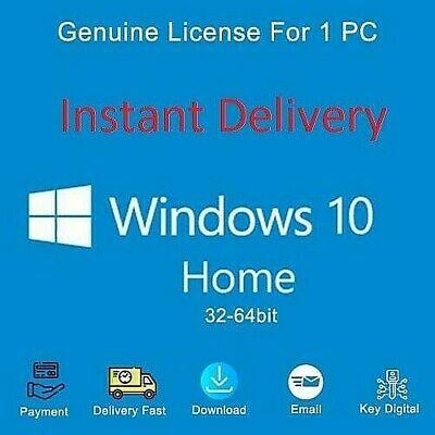 Ebay Link Ad Windows 10 Home 32 64 Bit Licence Activation Code Key Download Link In 2020 Windows 10 Software Coding