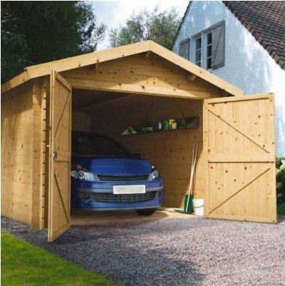 Garage Bois Blooma Arne 13 M Pas Cher Garage Castorama Garage Bois Salon De Jardin Castorama Maison Style