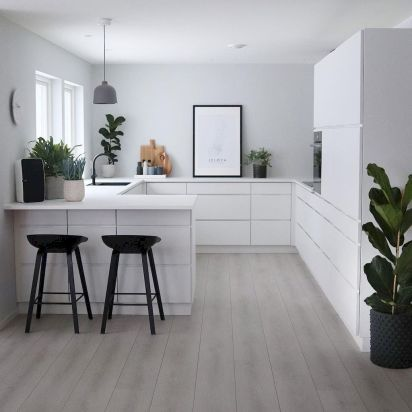 Scandinavian Kitchen Design Interior Of The All White And Beautiful Tiny Kitchen In 2020 Scandinavian Kitchen Scandinavian Kitchen Design Kitchen Design