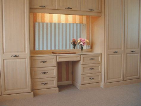 Pin By Christine On Bedroom Built Ins Dressing Table Design Built In Dressing Table Bedroom Cupboard Designs