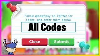 Roblox Adopt Me All Codes 2019 Roblox Roblox Codes All Codes