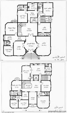 خرائط منازل عراقية 125م - خرائط منازل عراقية 200 متر تصماميم منازل 2015 -  منتديات درر العراق | Family house plans, Basement house plans, Model house  plan