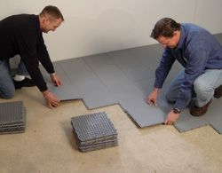 Concrete Basement Sub Floor Vapor Barrier Installed Basement Flooring Flooring Flooring Options