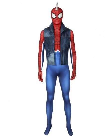 Spider-man PS4 Game punk Spiderman Spandex BodySuit Cosplay custome made