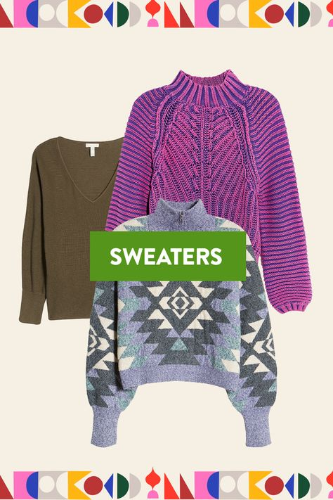 Cuddle up with a wide range of cozy sweaters to keep you warm all season long.