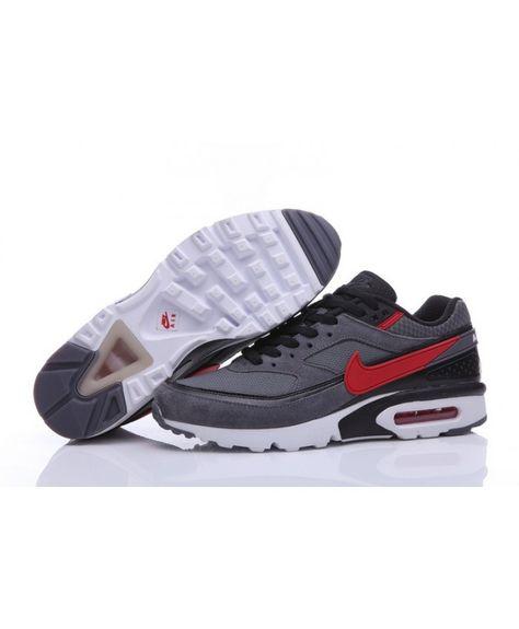 buy popular 21d4d aac25 Nike Air Max Classic BW Mens Premium Dark Grey Red
