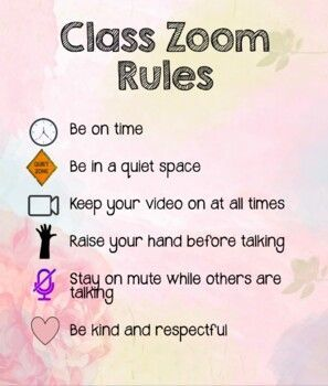 Classroom Zoom Rules In 2020 Positive Classroom Environment Classroom Behavior Management Classroom Behavior