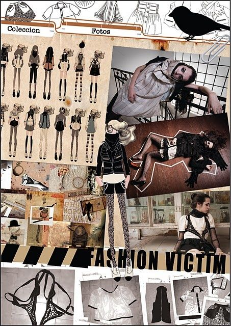 Fashion Victim Concept Board Fashion Design Moodboard With Images Fashion Inspiration Board Fashion Collage