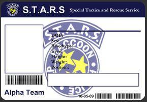 S T A R S Id Card Template By J J Joker Id Card Template