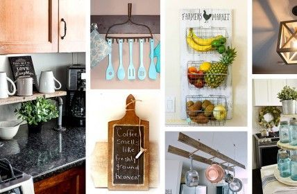 35 Diy Farmhouse Kitchen Decor Ideas To Upgrade Your Kitchen On A Budget Trendy Home Decor Diy Home Decor Decorating On A Budget