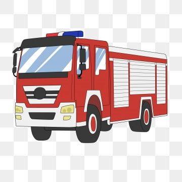 Gambar Tangan Melukis Kartun Trak Kebakaran 119 Penggera Pencegahan Trak Png Dan Psd Untuk Muat Turun Percuma Truk Kartun Merah