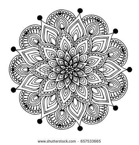 Mandalas Zum Ausmalen Eines Buches Dekorative Runde Ornamente Ungewohnliche Blutenform Orientalisch Mandalas Zum Ausmalen Mandala Doodle Mandala Malvorlagen