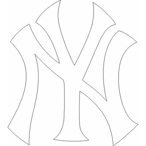 Yankees Logo Coloring Pages Coloring Pages Yankees Logo Ny Yankees Logo