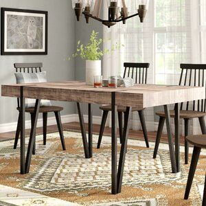 White Cane Outdoor Furniture, Hashtag Home Britt Solid Wood Dining Chair Reviews Wayfair In 2020 Dining Table In Kitchen Wood Dining Table Dining Room Industrial