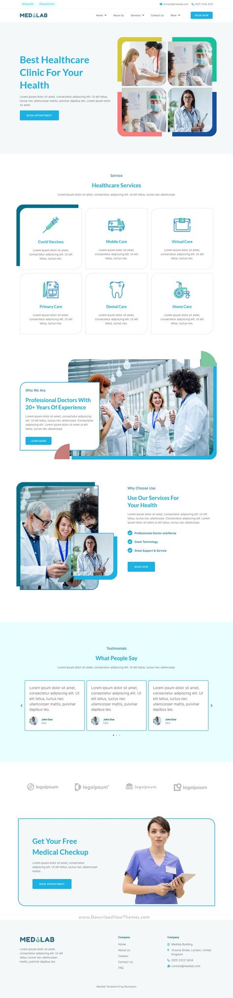 Medilab Healthcare and Clinical Laboratory Elementor Template Kit