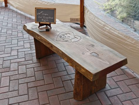 Guest Book Alternative-Wooden Bench. Then you put it in the yard at your new house!