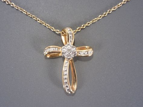14kt Gold Filled Cross Pendant with 3mm Peridot bead Gold Filled Lite Curb Chain 1 1//8 x 5//8