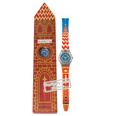 Swatch Wooden-Church-(Cathedral) GN135PACK - 1994 Fall Winter Collection PD