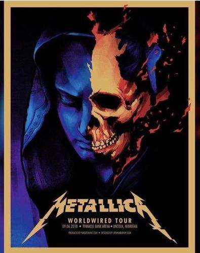 🔥 METALLICA~PINNACLE BANK ARENA,LINCOLN,NEBR~VIP Only Tour