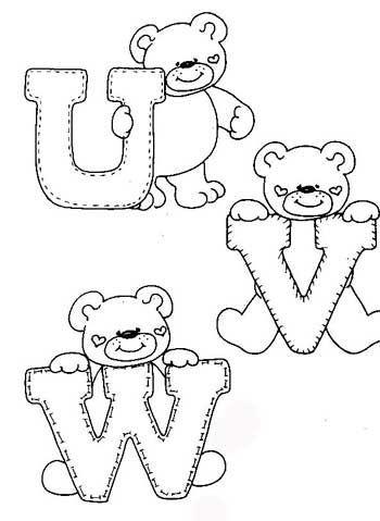 Desenhos Alfabeto Ursinhos Enfeite Sala De Aula Infantil 6