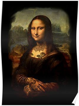 Monalisa Tattoo Poster By Vinnieinpoison In 2021 Tattoo Posters Elements Of Art Color Tattoo Shop Interior