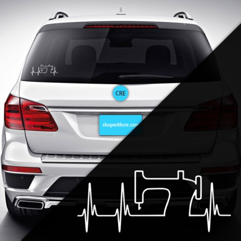 decals Sewing Heartbeat Decal...
