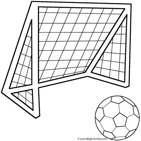 Image Result For Soccer Goal Drawing Easy Football Coloring Pages Football Kits Soccer Ball