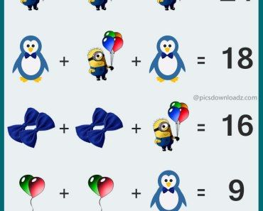 The Penguin Minions Math Puzzle Most Viral Puzzle Image Confusing Brainteasers Math Puzzles Image Math Puzzle For Maths Puzzles Logic Math Brain Teasers