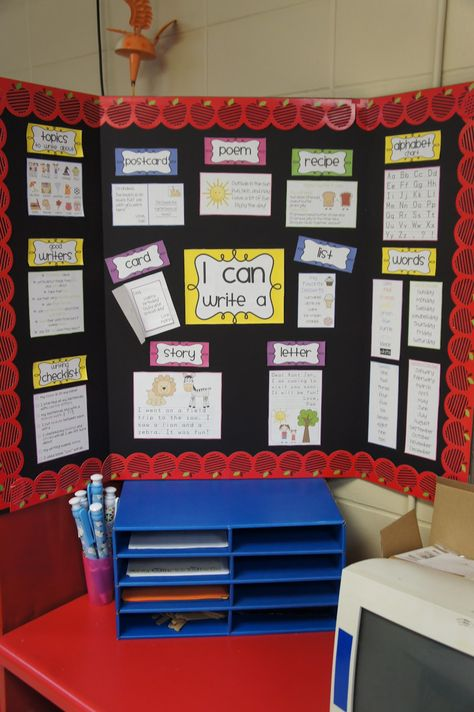 I never thought of making a bulletin on a poster display.  That is easy moveable and stored easily!