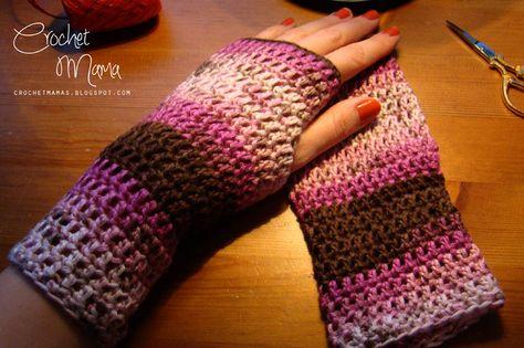 made by Crochet Mama: Rękawiczki bez palców