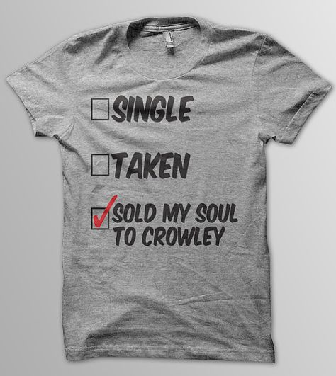 SUPERNATURAL Sold My Soul To Crowley Dean and Sam par YellowDogTees