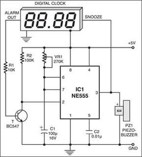 Electrical And Electronics Engineering Auto Snooze For Digital Alarm Clocks Electronic Engineering Digital Alarm Clock Electronic Circuit Projects