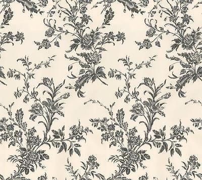 Wallpaper Designer Waverly Black Floral Toile Vine On Cream Floral Toile Waverly Wallpaper Wallpaper Black and cream floral wallpaper