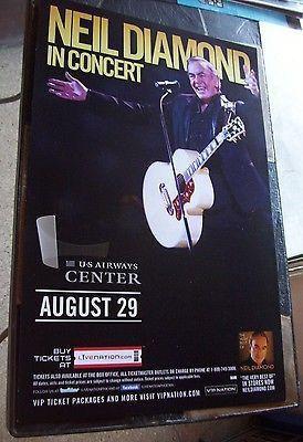 Original Neil Diamond Concert Posterideal For Autographs And Framingno Holes No Staples No Tape Boxing Style 11 Neil Diamond Neil Diamond Concert Diamond Music