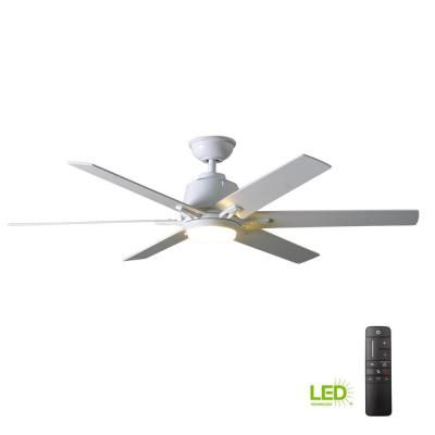 Stile Anderson 22 In Led Indoor Outdoor White Ceiling Fan With