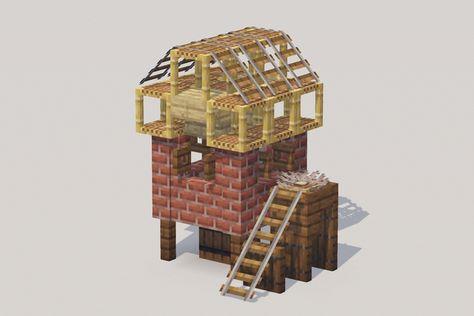 Wall update of 1.16 allows for tiny 3x3 chicken coop - DetailCraft Minecraft Interior Design, Minecraft Architecture, Minecraft Designs, Minecraft Creations, Minecraft Projects, Minecraft Crafts, Minecraft Furniture, Minecraft Stuff, Cute Minecraft Houses