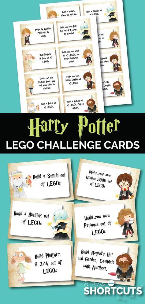 FREE Harry Potter LEGO Challenge Cards Printable
